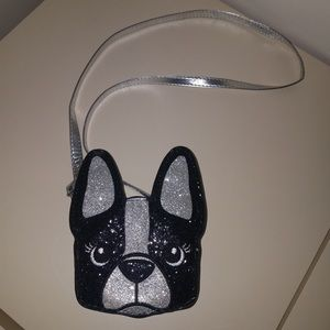 Justice For Girls sparkly french bulldog purse